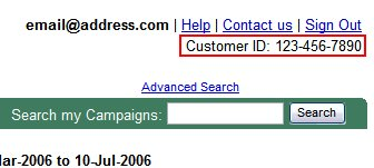 Google Adwords Customer ID